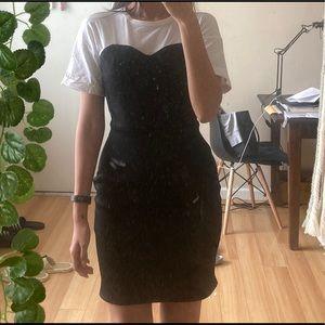 Topshop T Shirt Black Tube Top Midi Dress